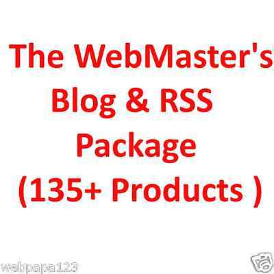 The Webmasters Blog & RSS Package(135+ Products)-With RESELL RIGHT-Build Website