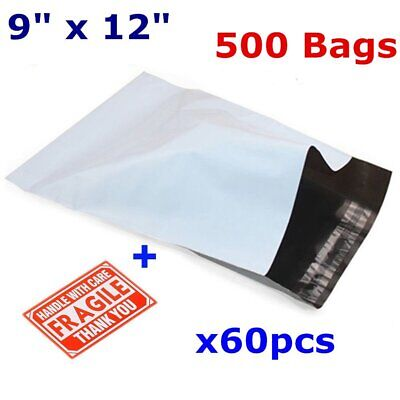 500 9x12 Poly Mailers Plastic Mailing Bags Shipping Envelopes Polymailer 2.5 Mil