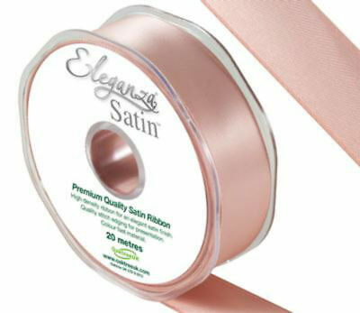 Rose Quartz/Rose Gold/Blush Pink Double Sided Satin Ribbon 3,6,10,15,25,38,50MM