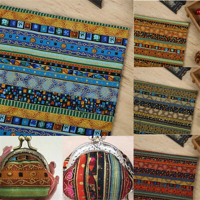 150cm*50cm Tribal Ethnic  Quarters Bundle Sewing Cotton Linen Quilt Fabric DIY