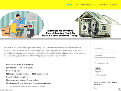 RESELL RIGHTS MEMBERSHIP WEBSITE BUSINESS FOR SALE! Make Money Online
