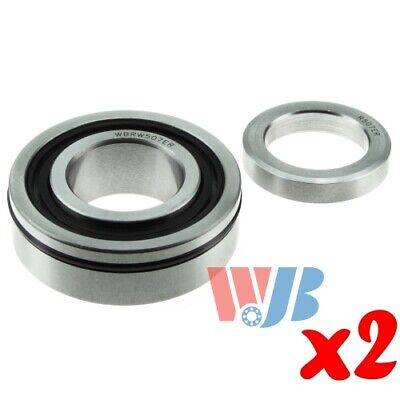 Pair of 2 New Rear Wheel Bearing with Lock Collar WJB WBRW507ER Cross RW-507-ER