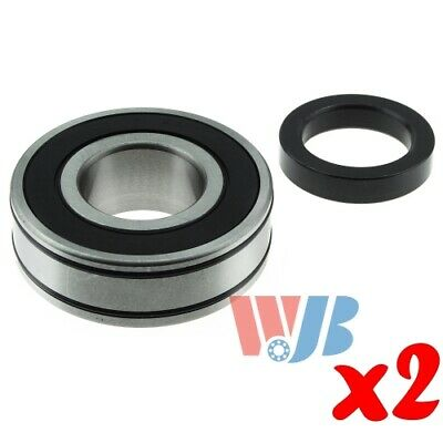 Pair of 2 Wheel Bearing with Lock Collar WJB WBRW607NR Cross RW-607-NR RW607-BR
