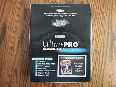 (100) 1-Pocket 8X10 Photo Size Ultra-Pro Plastic Sheets / Pages - Priority Ship