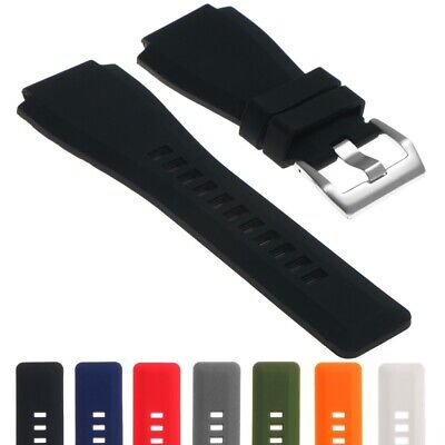 StrapsCo Rubber Replacement Watch Band Strap for Bell & Ross BR-01 and BR-03