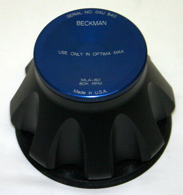 BECKMAN ULTRACENTRIFUGE FIXED ANGLE TITANIUM ROTOR, MODEL MLA-80, 8 x 8.0ML