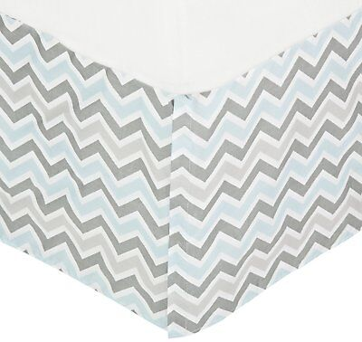 American Baby Company 100% Cotton Tailored Crib Skirt with Pleat, Blue