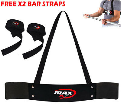 Heavy-Duty Arm Blaster Body Building Bomber Bicep Curl Triceps Muscle Fitness UK