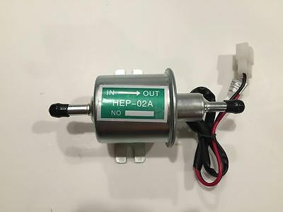 12V Universal HD Car Boat Fuel Pump Metal Solid Electric GAS Diesel HEP-02A USA