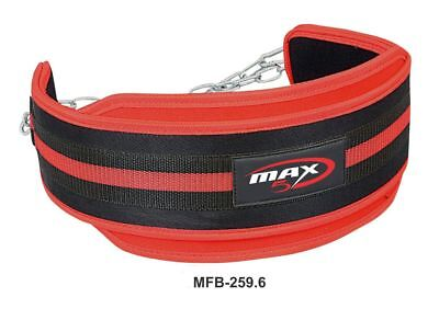 Max5 Dipping Belt Body Building Weight Lifting Dip Chain Exercise Gym Training