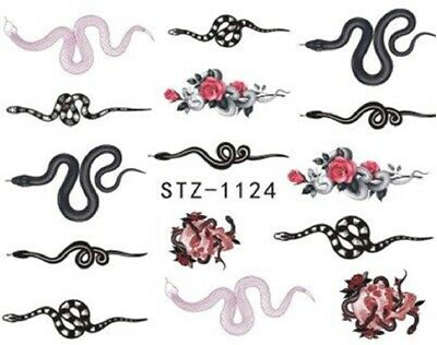 Nail Art Stickers Water Decals Transfers Colourful Flowers (WG289)