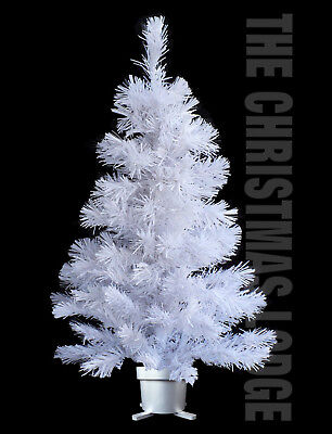 WHITE CHRISTMAS TREE with FIBER OPTIC LIGHTS & NEW LED TECHNOLOG / OUR LAST TWO!