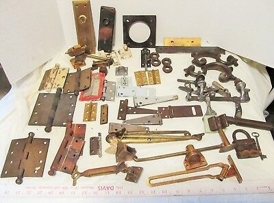 Vintage Door Hardware large mixed lot hinges salvage LQQK!