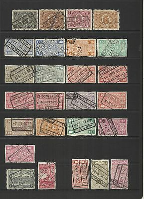 Belgium Belgique Belgie ~ 1921-35 Railway Parcel Post (Used Part Sets)