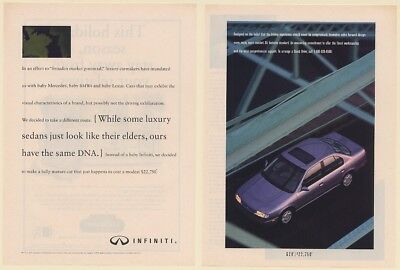 1992 Infiniti G20 Same DNA as Elders 2-Page Print Ad
