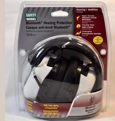 Safety Works Bluetooth Hearing Protection NIP New in Package