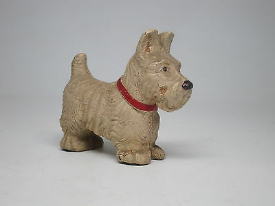VTG Antique Hard Rubber Dog Toy White West Highland Westie Scottie Terrier
