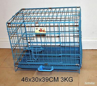 Foldable Pet Cat Dog Cage Collapsible Metal Crate Kennel Puppy Pig Rabbit House
