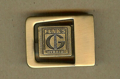 Vintage Funk's G Hybrid, Funks Seed Corn Brass BELT BUCKLE, Unused