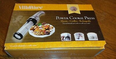 VillaWare V5375 Power Cookie Press: Electric, Cordless & Rechargeable, 21 Plates
