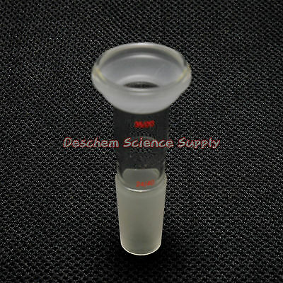 S35 Ball Joint To 24/40 Male Joint Glass Adapter,Lab Chemistry Glassware