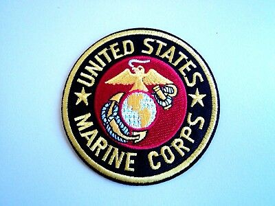 1x United States US Marine Corps Patches Embroidered Cloth  Badge Iron Sew On