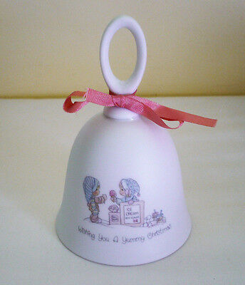 """1988 Precious Moments """"WISHING YOU A YUMMY CHRISTMAS"""" Bell"""