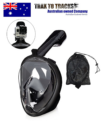 Full Face Snorkel Mask with Snorkel Bag & GoPro Attachment