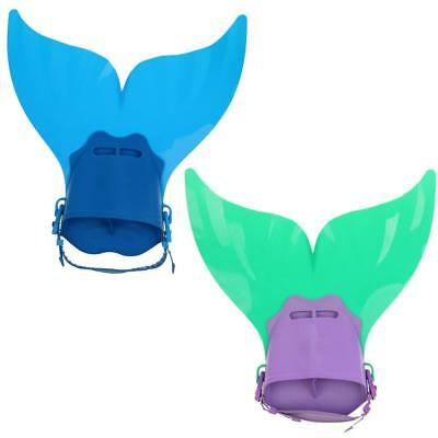 Mermaid Swim Fin Kids Diving Mono Fin Swimming Training Foot Flippers