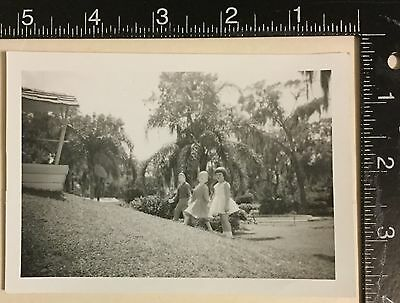 Vintage Photograph nice image of girl posing with jack and Jill ?1940s