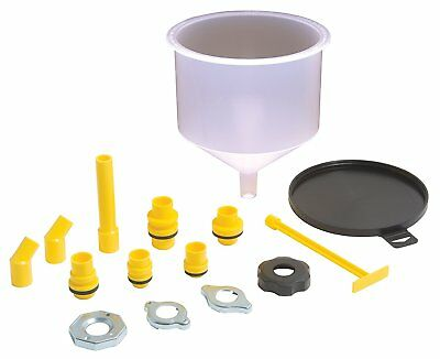 Spill Free Funnel Kit Car Oil Transmission Fluid Radiator Cap Coolant Fill Flush