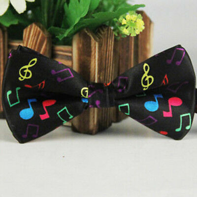 Fashion Colorful Men's Music Pattern Tuxedo Adjustable Butterfly Bow Tie Neck