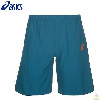 "ASICS Athlete 9"" Tennis Shorts Performance Ink Blue New"