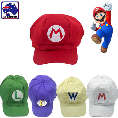 Luigi Super Mario Bros Cosplay Baseball Costume Adult Teenager Hat Cap CAHA962