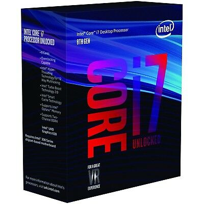 Intel Six Core i7 8700k CPU 3.7GHz LGA1151 CL Desktop Processor BX80684I78700K