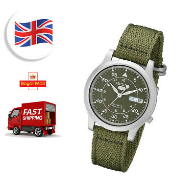 Seiko Analog Casual Watch 5 Automatic Green Mens SNK805K2