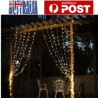 600LED Window Curtain Icicle Lights String Fairy Light Wedding Party Garden 3*6M