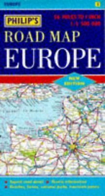 Philips Road Map of Europe (Road Map),ACCEPTABLE Book