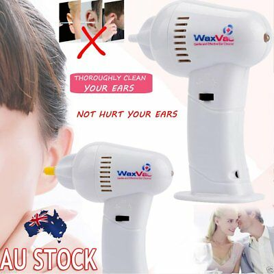 WAX VAC Ear Cleaner Electronic Remover Vacuum Cordless Cleaning Hygenic Safety