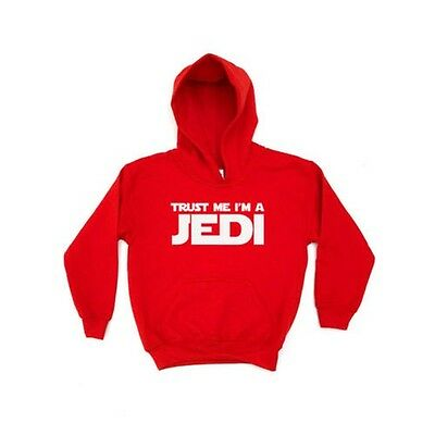 Trust Me I'm a Jedi KIDS HOODIE Star Clothing Wars Gift Present Boys Girls