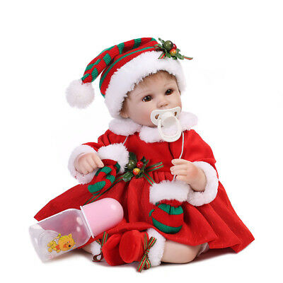 "16""Handmade  Realistic Baby Dolls Real Looking Newborn Girl Vinyl Xmas Gift"