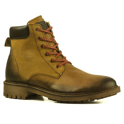 huge selection of c632a d503a BUFFALO HERREN STIEFEL Boots Leder Leather Camel Braun Schnürstiefel 1280