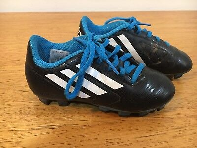 8cfb357f0cf ADIDAS KIDS SOCCER Cleats Shoes Boys Girls Black Size 11K -  8.95 ...