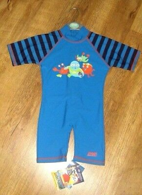Zoggs Age 1-2 years  boys ultraviolet protection swim suit upf 50+ BNWT