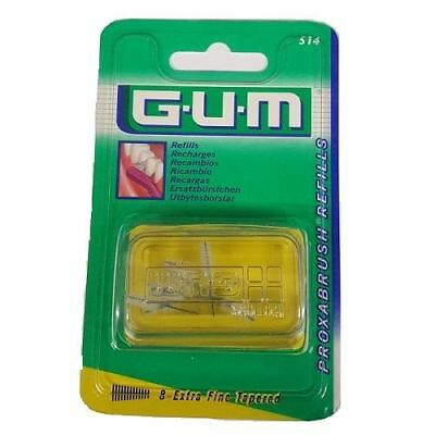 Gum Proxabrush Refills 8-Etra Fine Tapered (514) x 2 Pack