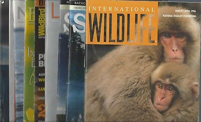 Mixed Lot of (12) ANIMAL NATURE AND CONSERVATION NATIONAL PARKS  Magazines~ 8x8C