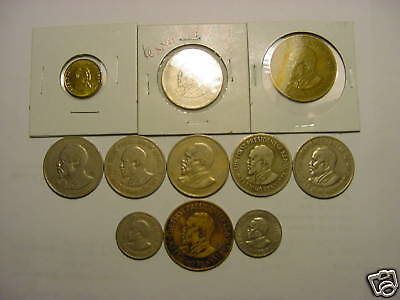 - Kenya – 11 Coins - Old  &  New - All Different - Big & Heavy-1966-1997 #11Ay