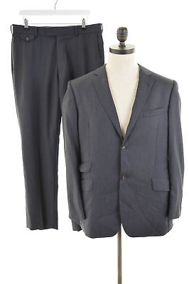 TED BAKER Mens 2 Button 2 Piece Suit Size 42 Large W34 L30 Grey Wool