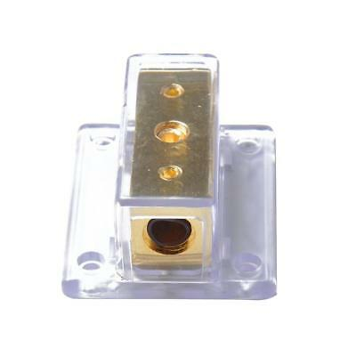 Car Stereo Audio Power Distribution Block (1x) 0/1 Gauge In (4x) 4 Gauge Out