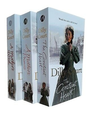 Dilly Court 3 Books Romance Family Saga Mother Promise Wish Constant Heart New